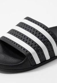 adidas Originals - ADILETTE - Ciabattine - core black/footwear white - 2