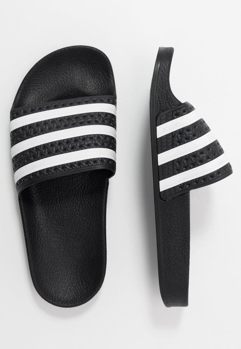 adidas Originals - ADILETTE - Ciabattine - core black/footwear white