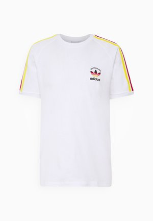 STRIPES SPORTS INSPIRED SHORT SLEEVE TEE UNISEX - T-shirt imprimé - white