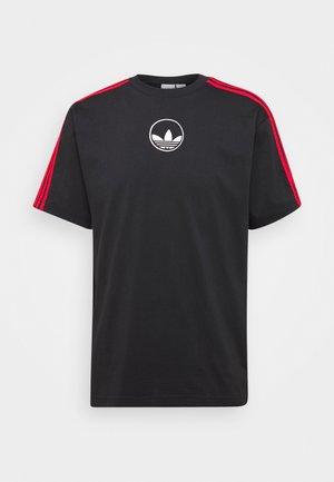 STRIPE CIRCLE - Print T-shirt - black