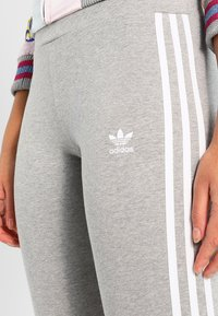 adidas Originals - ADICOLOR 3 STRIPES TIGHTS - Leggings - Trousers - medium grey heather - 3