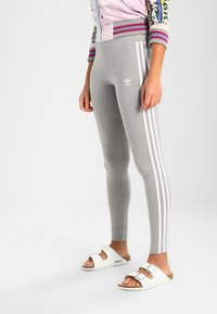 adidas Originals - ADICOLOR 3 STRIPES TIGHTS - Leggings - Trousers - medium grey heather - 0