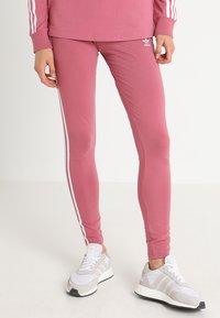 adidas Originals - ADICOLOR 3 STRIPES TIGHTS - Leggings - Trousers - trace maroon - 0