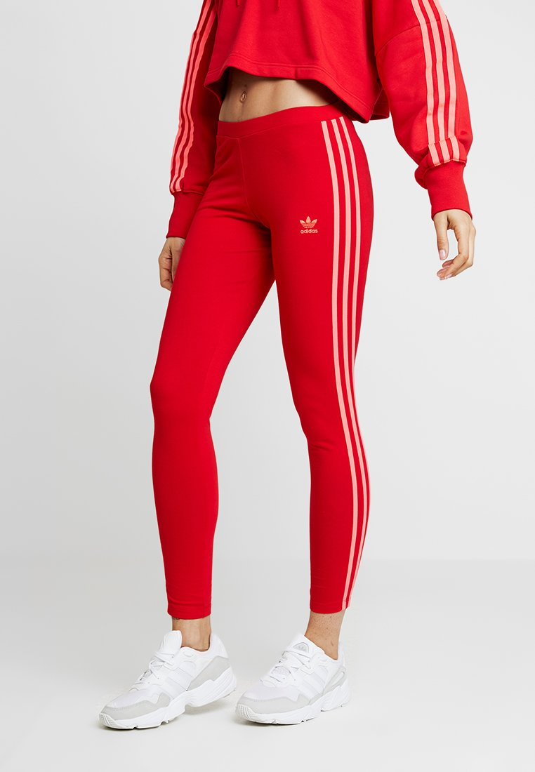 adidas Originals - ADICOLOR 3 STRIPES TIGHTS - Legíny - scarlet