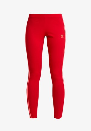 ADICOLOR 3 STRIPES TIGHTS - Legginsy - scarlet