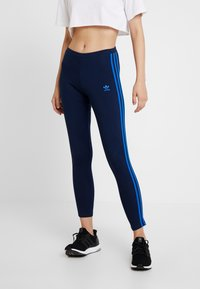 adidas Originals - ADICOLOR 3 STRIPES TIGHTS - Leggings - collegiate navy/bluebird - 0