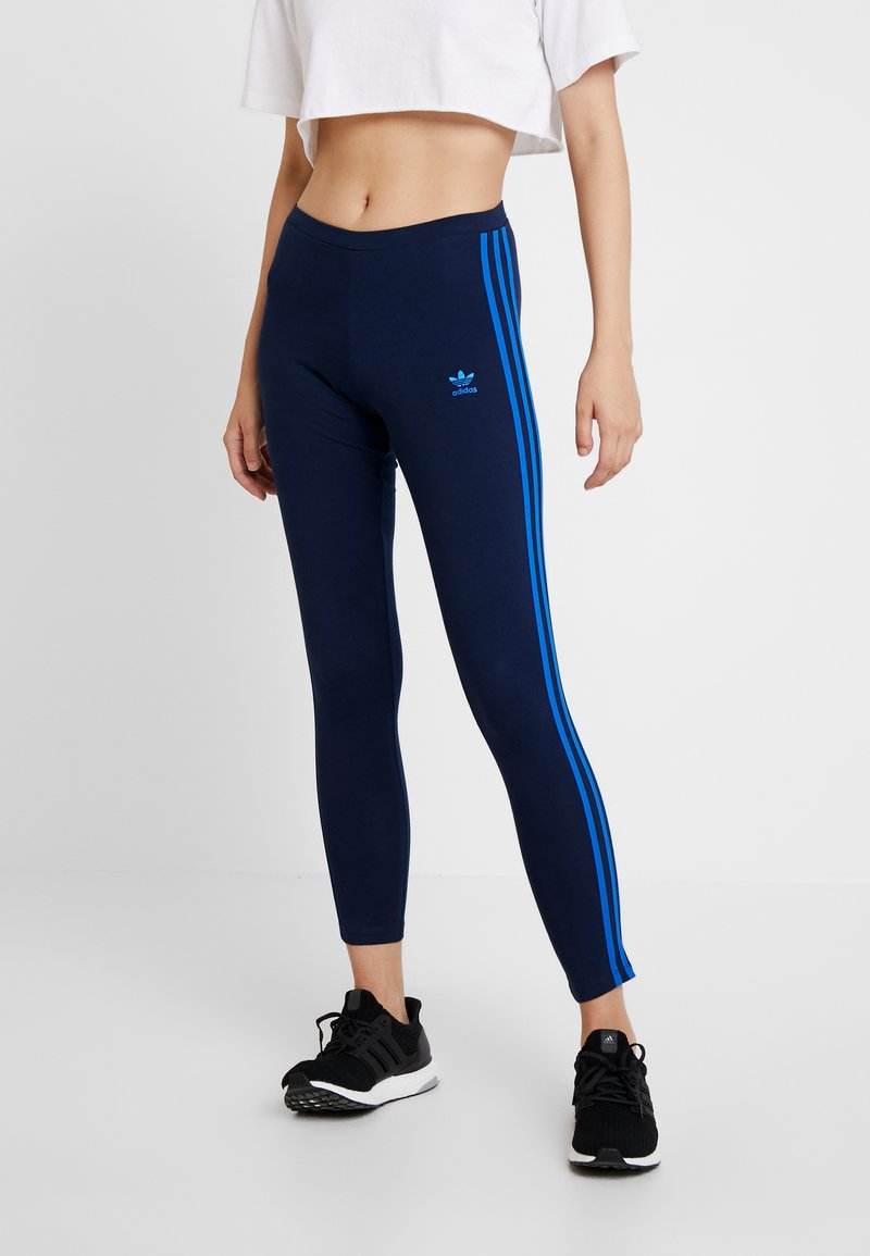 adidas Originals - ADICOLOR 3 STRIPES TIGHTS - Legging - collegiate navy/bluebird