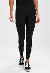 adidas Originals - ADICOLOR 3 STRIPES TIGHTS - Legginsy - black - 0