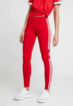 ADICOLOR TREFOIL TIGHT - Leggings - scarlet