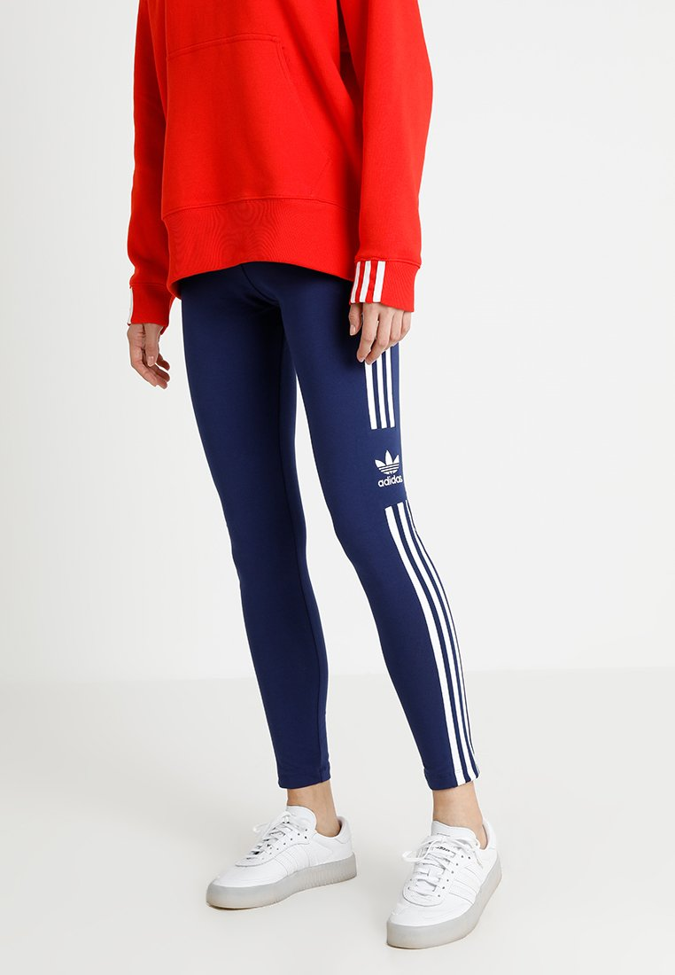 adidas Originals - ADICOLOR TREFOIL TIGHT - Leggings - Hosen - dark blue