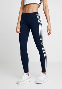 adidas Originals - ADICOLOR TREFOIL TIGHT - Leggings - collegiate navy - 0