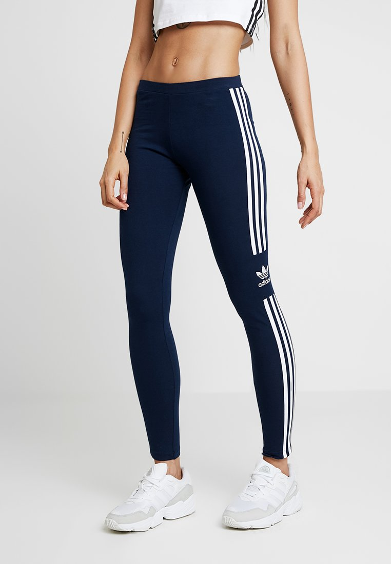 adidas Originals - ADICOLOR TREFOIL TIGHT - Leggings - collegiate navy