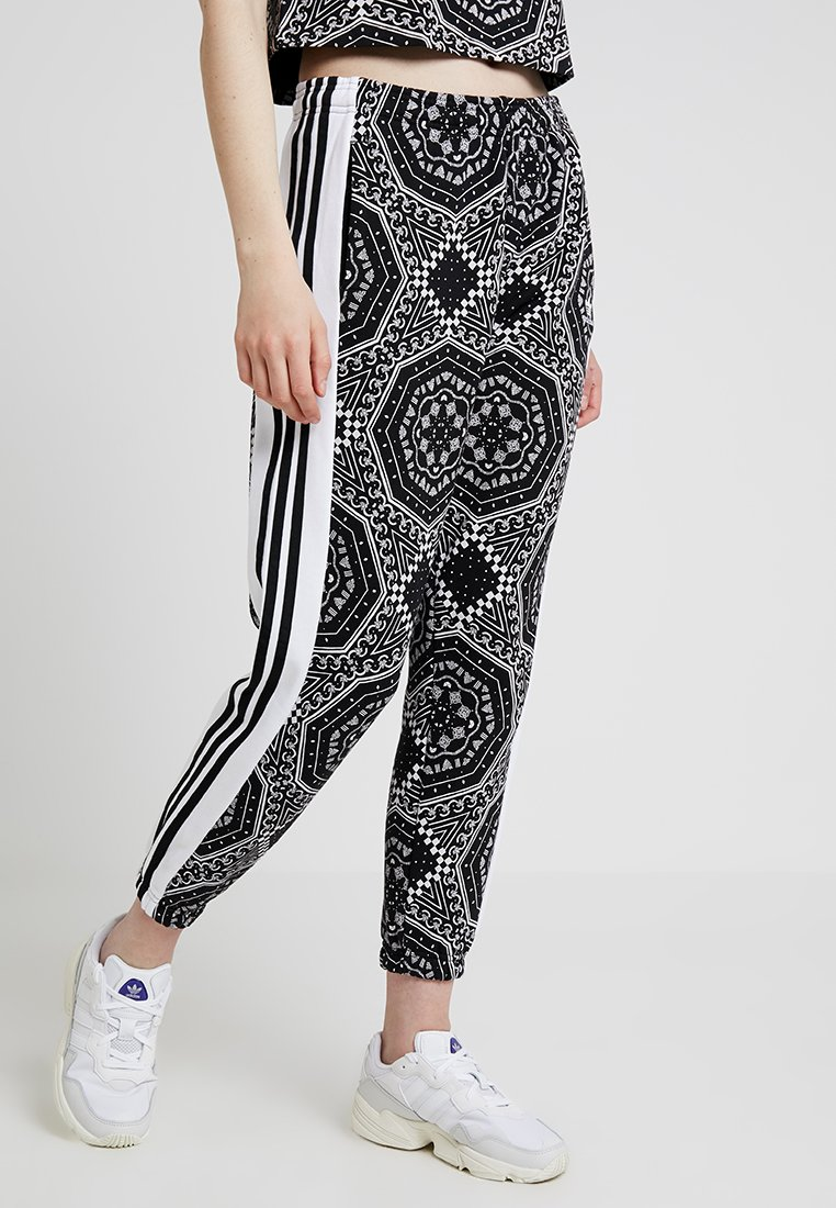 adidas Originals - CUFFED PANTS - Træningsbukser - black/white
