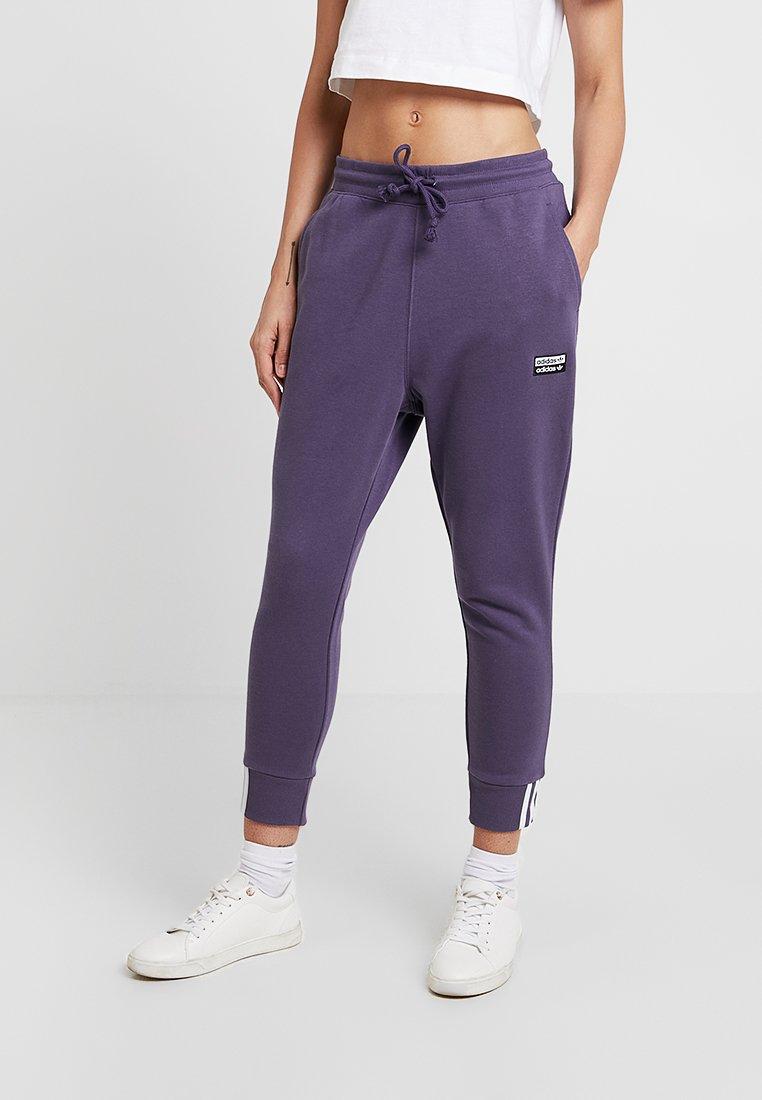 adidas Originals - CUF PANT - Pantalon de survêtement - trace purple/white