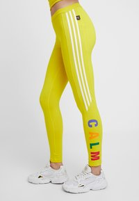 adidas Originals - PHARRELL WILLIAMS 3 STRIPES TIGHT - Leggings - Trousers - yellow - 3