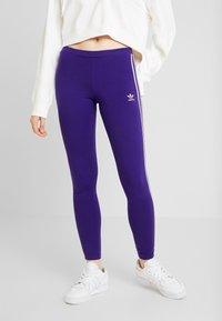 adidas Originals - ADICOLOR 3 STRIPES TIGHTS - Leggings - Trousers - collegiate purple - 0