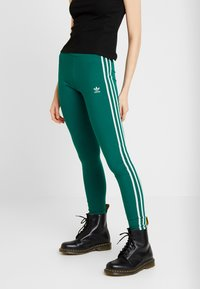adidas Originals - ADICOLOR 3 STRIPES TIGHTS - Leggings - Trousers - noble green - 0