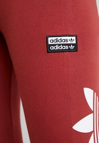 adidas Originals - TIGHTS - Leggings - Trousers - mystery red/white - 5