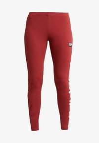adidas Originals - TIGHTS - Leggings - Trousers - mystery red/white - 4
