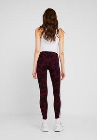 adidas Originals - BELLISTA ALLOVER PRINT TIGHT - Leggings - Trousers - maroon black - 2