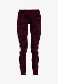 adidas Originals - BELLISTA ALLOVER PRINT TIGHT - Leggings - Trousers - maroon black - 3
