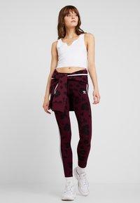 adidas Originals - BELLISTA ALLOVER PRINT TIGHT - Leggings - Trousers - maroon black - 1
