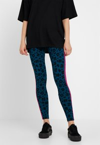 adidas Originals - BELLISTA ALLOVER PRINT TIGHT - Leggings - tech mineral/black - 0