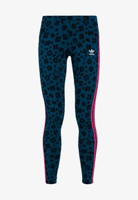 adidas Originals - BELLISTA ALLOVER PRINT TIGHT - Leggings - Trousers - tech mineral/black - 3