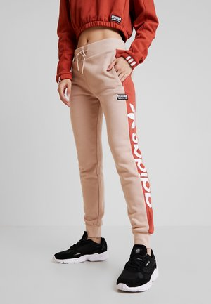 CUF PANT - Joggebukse - ash pearl/shift orange