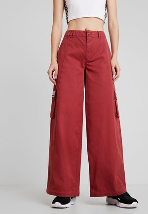 TRACK PANTS - Trousers - mystery red