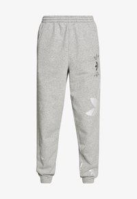 adidas Originals - LARGE LOGO PANT - Tracksuit bottoms - mgreyh/white - 4