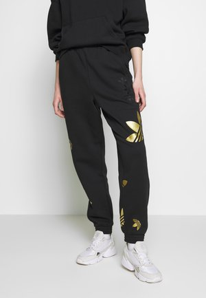 LARGE LOGO PANT - Pantalon de survêtement - black/gold