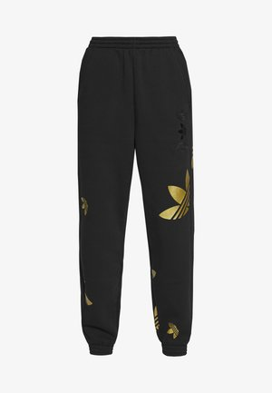 LARGE LOGO PANT - Tracksuit bottoms - black/gold