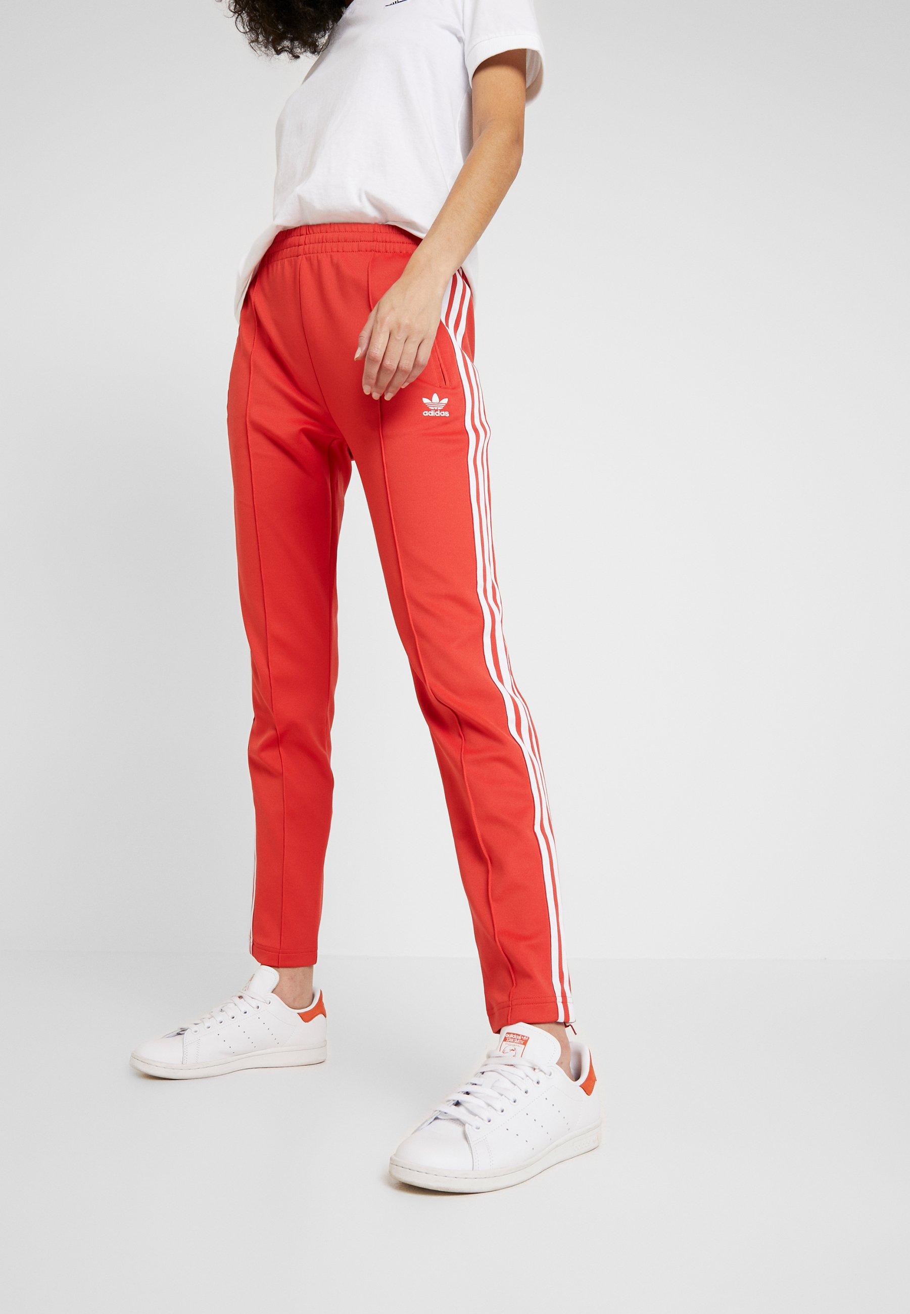 adidas Originals Spodnie treningowe - lush red/white