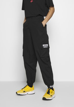 TRACK PANT - Cargo trousers - black