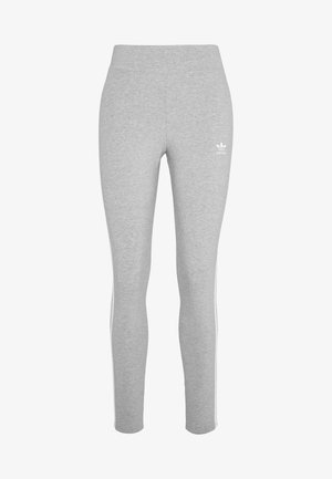 3 STRIPES TIGHT - Leggings - medium grey heather/white
