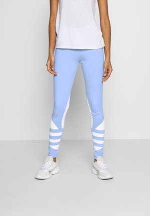 LARGE LOGO ADICOLOR LARGE LOGO TIGHT TIGHTS - Leggings - clear sky/white