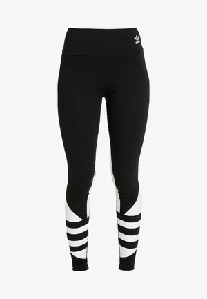 LOGO TIGHT - Legginsy - black/white