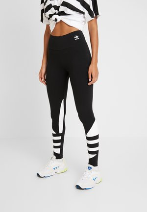 LOGO TIGHT - Leggings - black/white