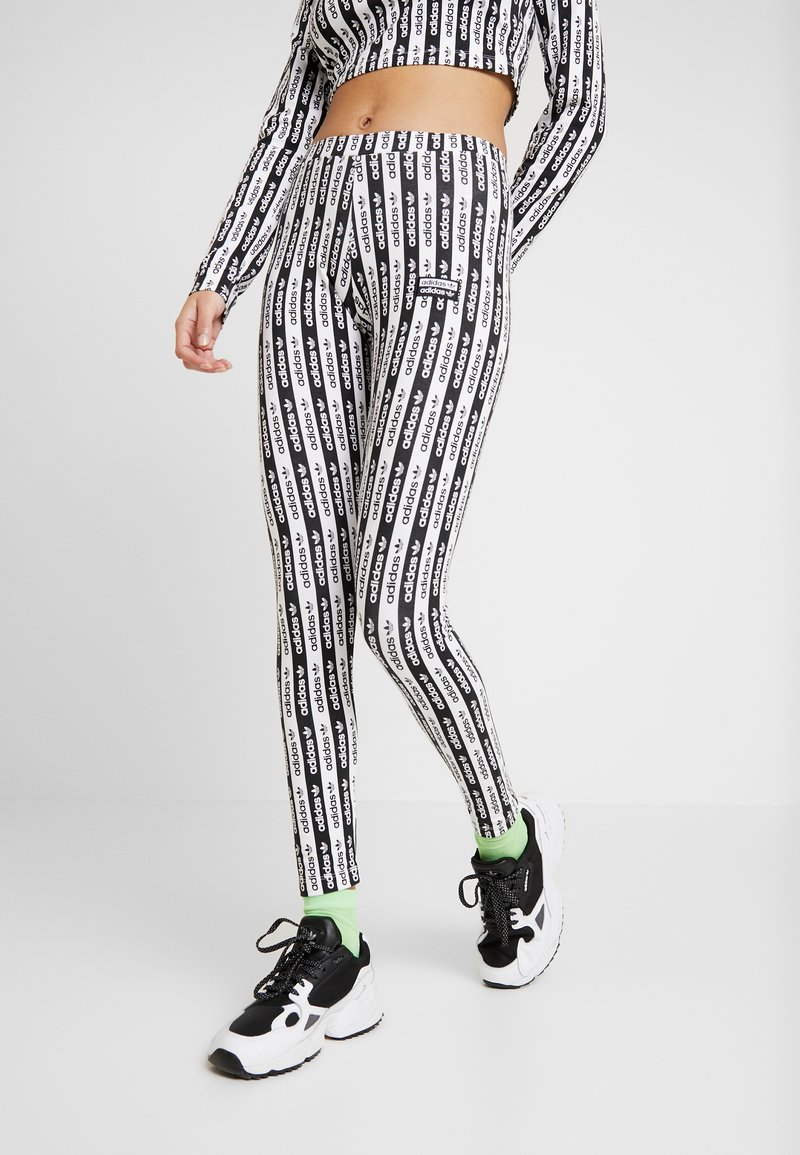 adidas Originals - TIGHTS - Leggings - black/white