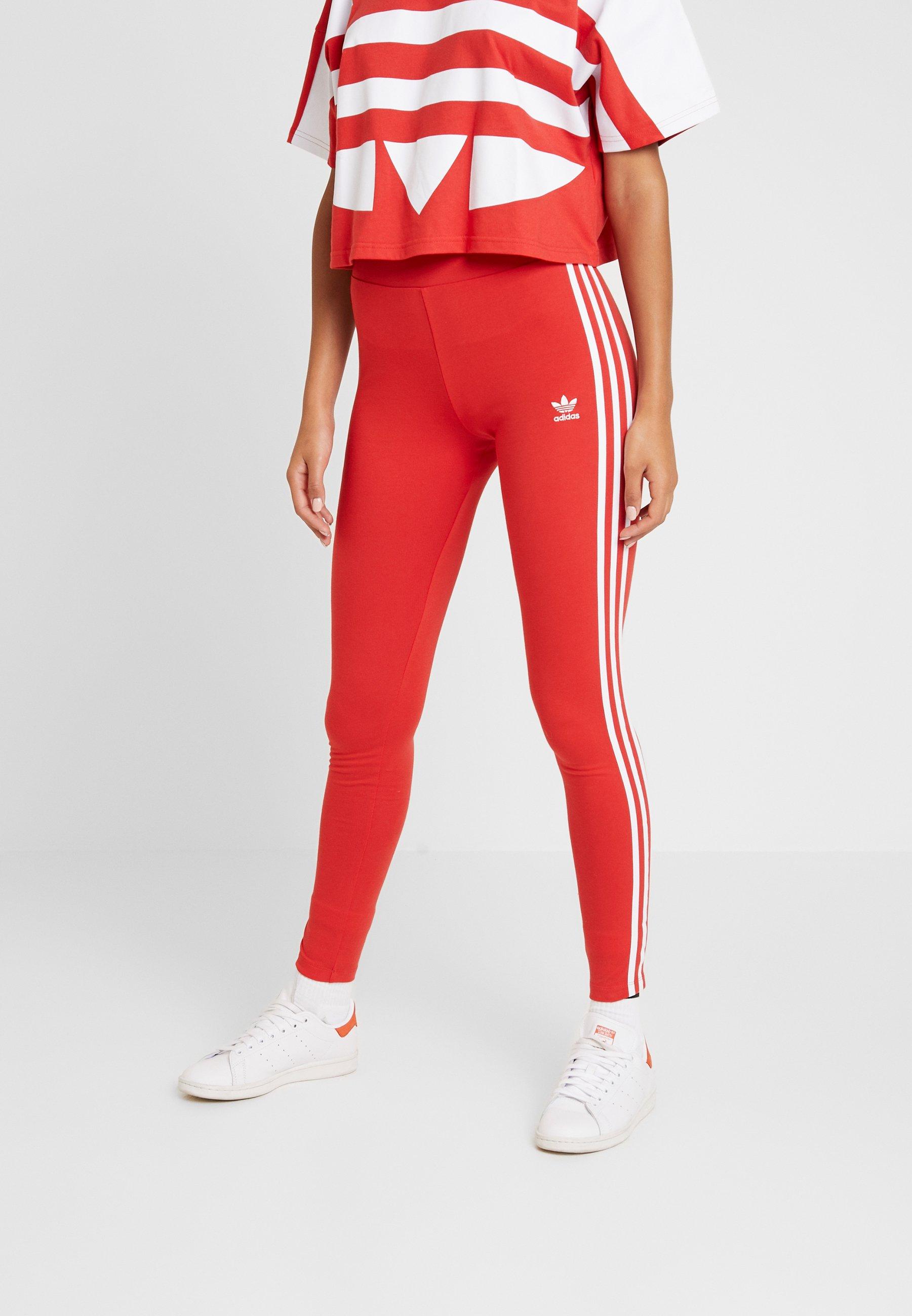 adidas Originals TIGHT - Legginsy - lush red/white