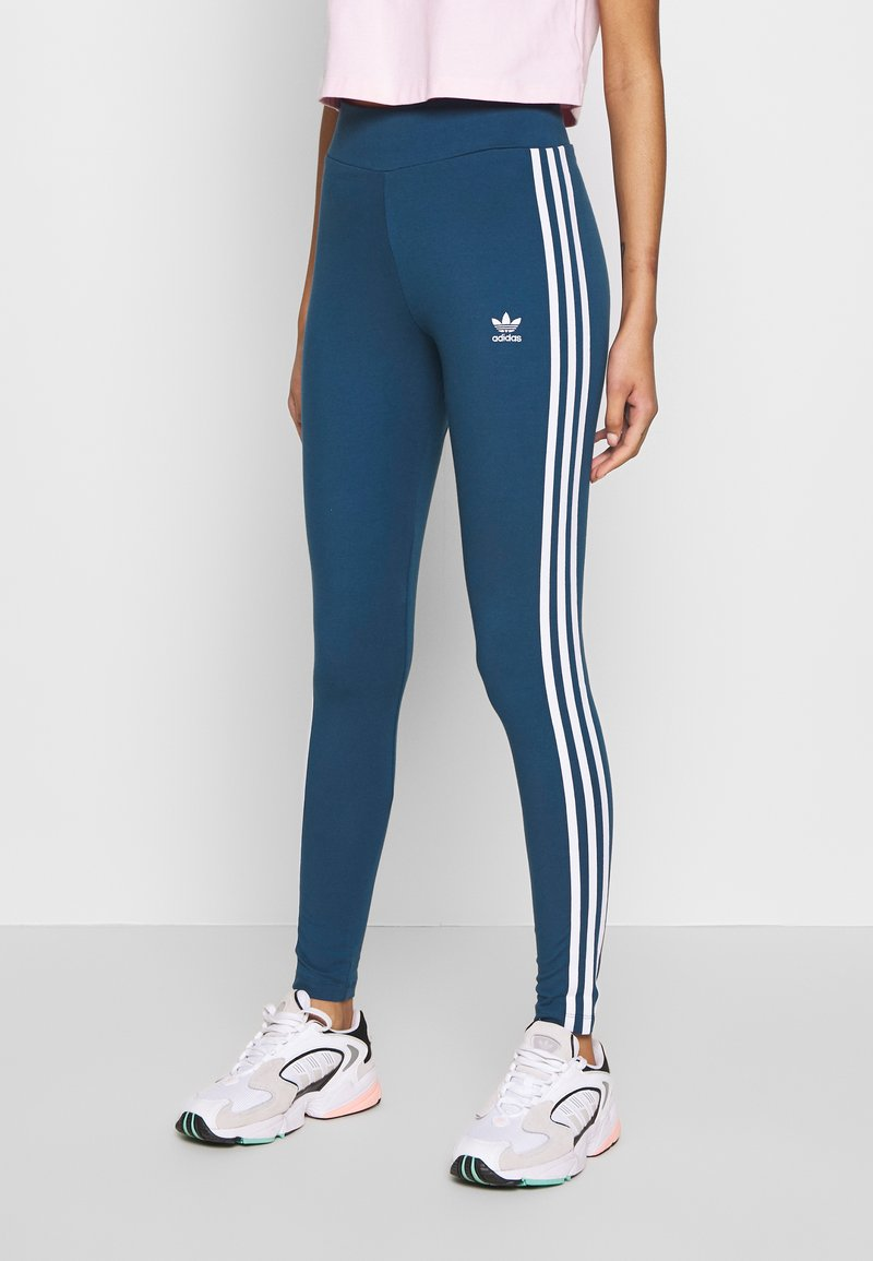 adidas Originals - Leggings - Trousers - night marine/white