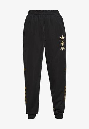 LARGE LOGO ADICOLOR TRACK PANTS - Spodnie treningowe - black/gold