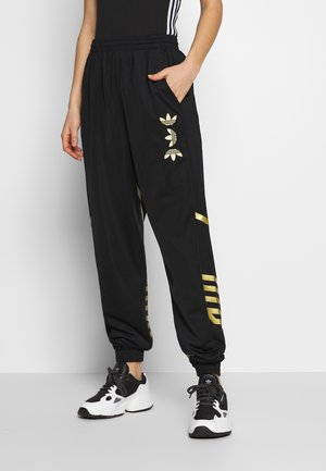 LOGO - Pantalon de survêtement - black/gold