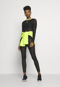 adidas Originals - FIORUCCI INLINE SHEER TRANSPARENT TIGHTS - Leggings - Trousers - black - 1