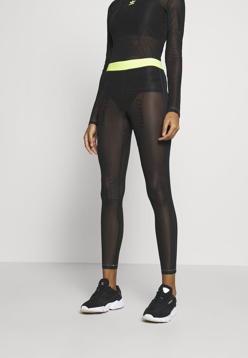 adidas Originals - FIORUCCI INLINE SHEER TRANSPARENT TIGHTS - Leggings - Trousers - black