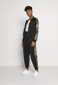 adidas Originals - 3STRIPES HIGH WAIST TRACK PANTS - Tracksuit bottoms - black - 1