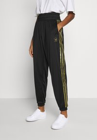 adidas Originals - 3STRIPES HIGH WAIST TRACK PANTS - Tracksuit bottoms - black - 0