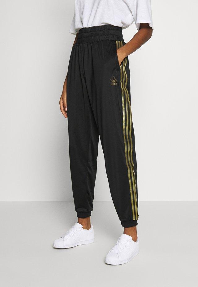 3STRIPES HIGH WAIST TRACK PANTS - Pantaloni sportivi - black