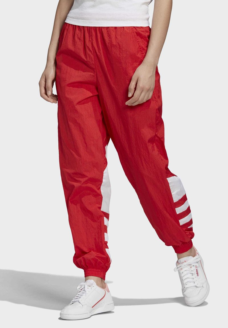 adidas Originals - BIG LOGO TRACKSUIT BOTTOMS - Träningsbyxor - red